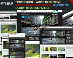 deTube - Professional Video WordPress Theme http://Glukom.com