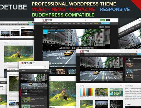 deTube - Professional Video WordPress Theme http://Glukom.com