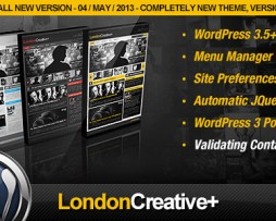 London Creative + (Portfolio & Blog WP Theme) http://Glukom.com