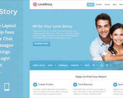 LoveStory - Dating WordPress Theme http://Glukom.com