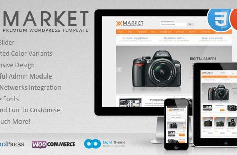 XMarket - Responsive WordPress E-Commerce Theme http://Glukom.com
