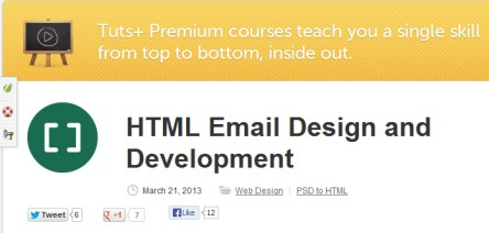 Tutsplus – HTML Email Design and Development http://Glukom.com