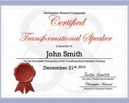 Chris Howard - Transformational Speaker Certification http://Glukom.com
