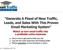 Email Traffic Academy - Jonathan And Tim