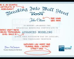 Breaking Into Wall Street - Advanced Financial Modeling