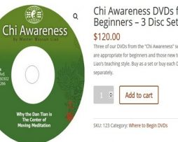 Chi Awareness DVDs for Beginners – 3 Disc Set