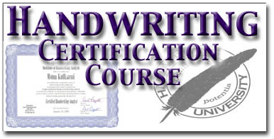 Be a Certified Handwriting Analyst